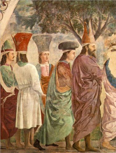 Exaltation of the Cross (detail) - Piero della Francesca