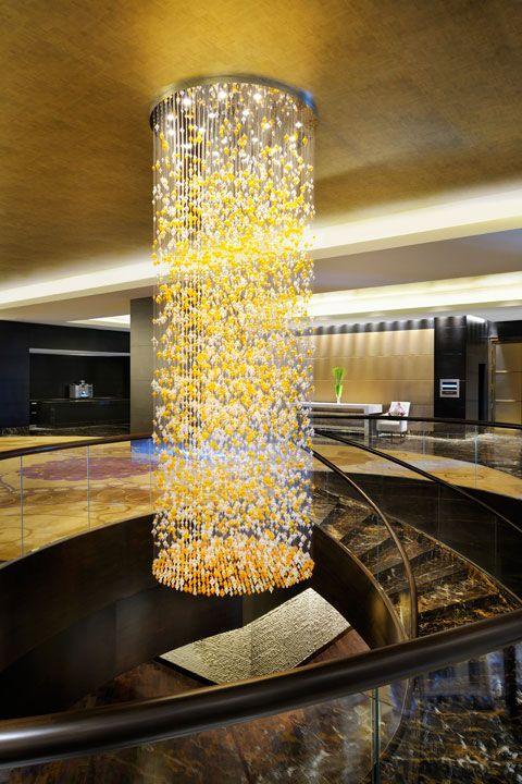 Reception area at park hyatt hyderabad designed by hba for Villa interior design in hyderabad