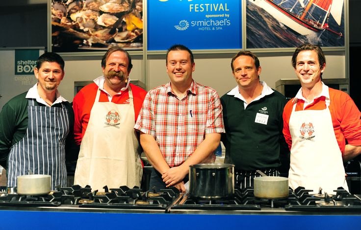 Nick Hodges, Dick Strawbridge, Arty Williams and James Strawbridge at the 2012 Falmouth Oyster Festival http://www.falmouthoysterfestival.co.uk #falmouth #oyster