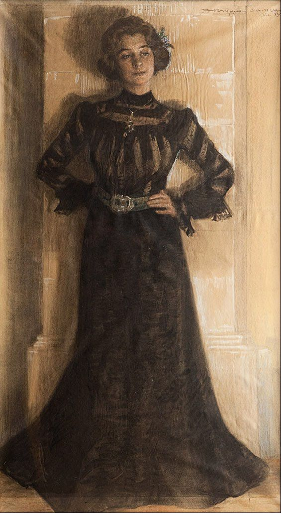 Peder Severin Kröyer - Portrait of the artist´s wife - Marie Kröyer - 1901