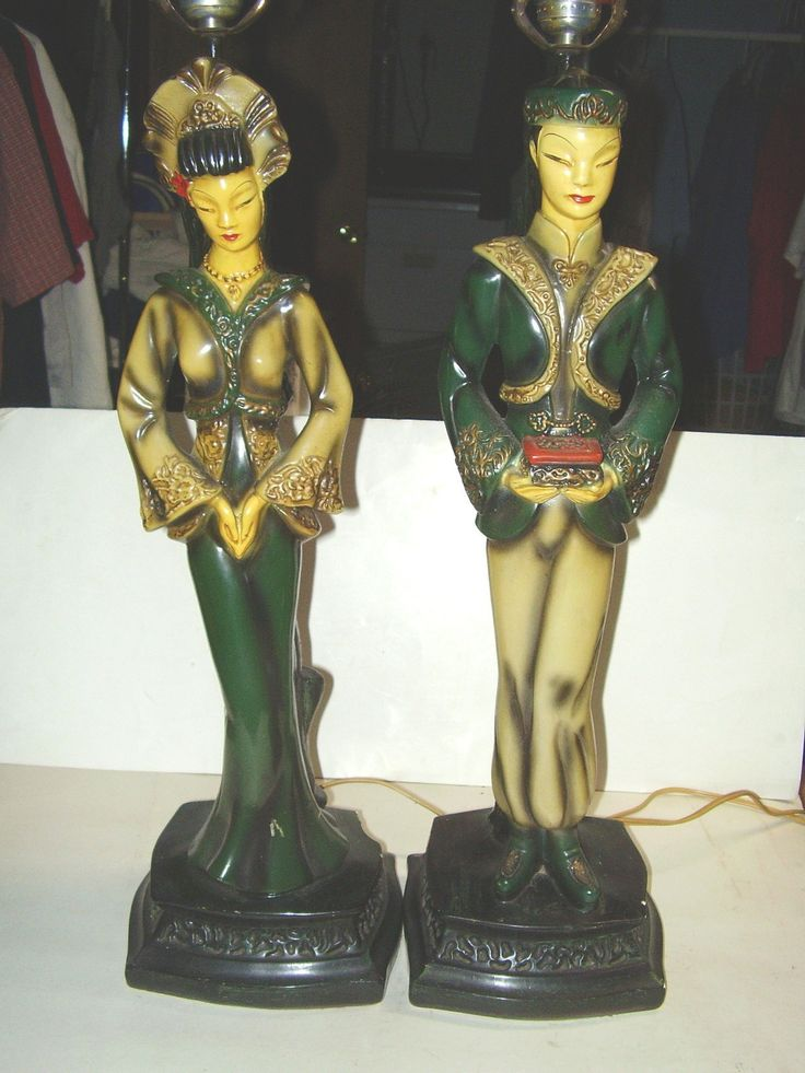 Continental Art Co Lamps 1950 S Chalkware Majestic