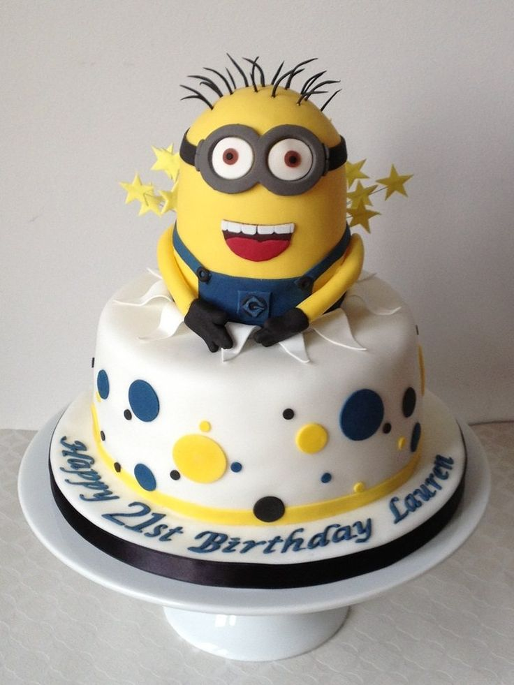 gâteau anniversaire superbe pour fille ou garçon avec Minion                                                                                                                                                                                 Plus