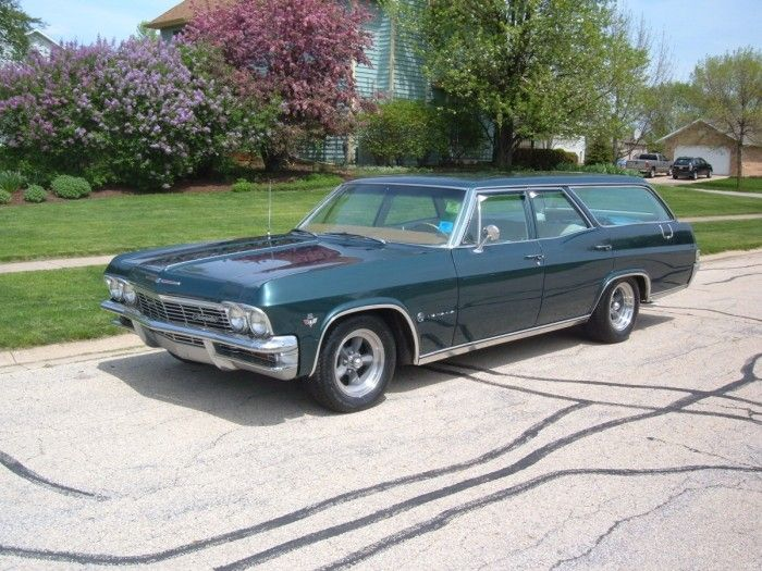 1965 Chevrolet Impala Station Wagon Went on many family vacations riding in the back of one of these - back seat laid down, no seat belts.