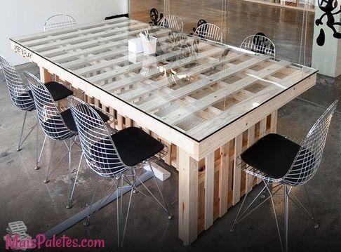 Mesas de Refeição feitas com paletes
