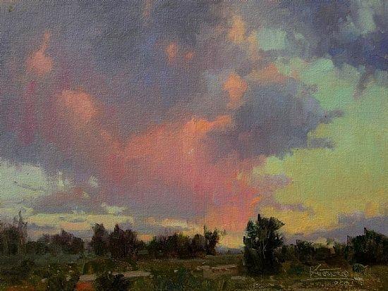 Lavender Pink & Green Evening by robert kuester  ~  x