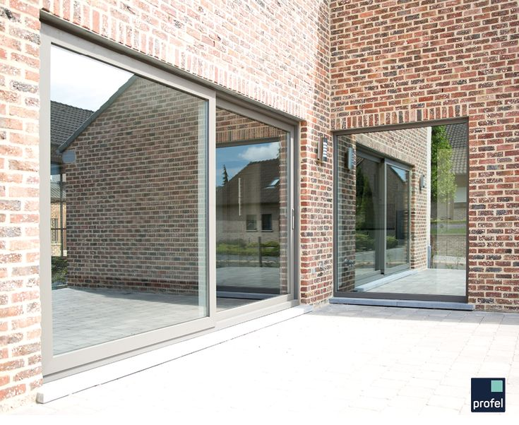 Porte-fenêtre/porte-châssis coulissante en pvc #Profel
