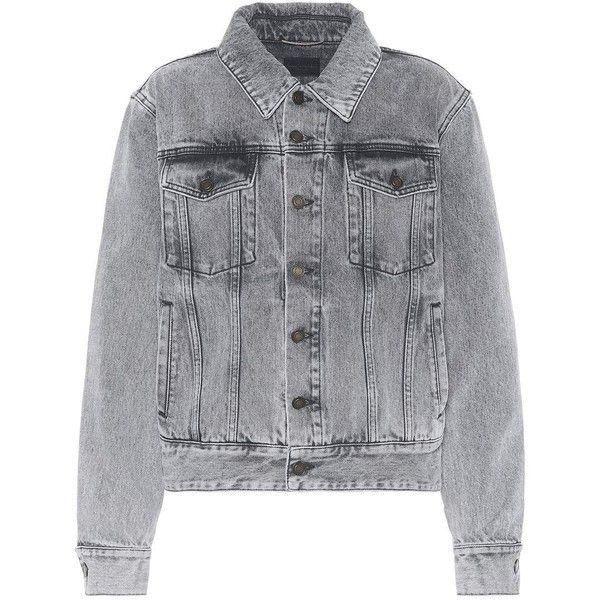 cd55ff5f44 Saint Laurent Denim Jacket ($1,375) ❤ liked on Polyvore featuring ...