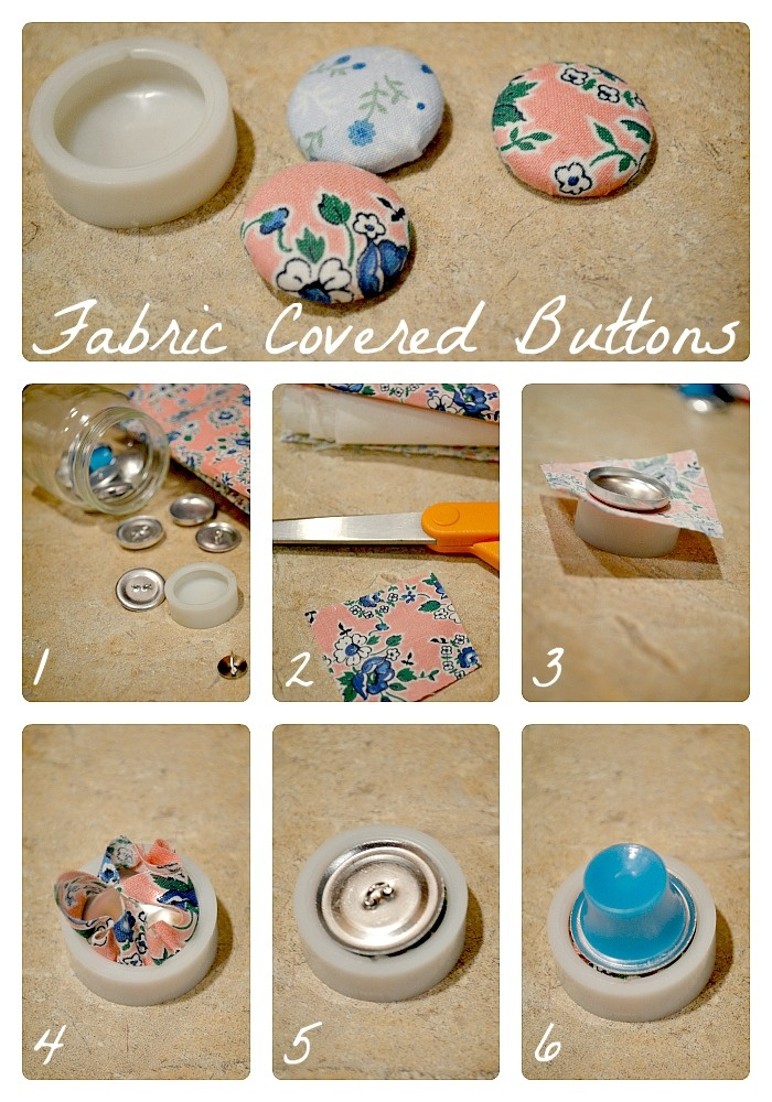 The Life of Jennifer Dawn: Fabric Covered Button Tutorial
