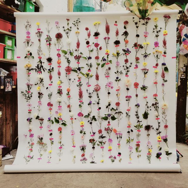 DIY – MAKE A FRESH FLOWER BACKDROP - LADYLANDLADYLAND