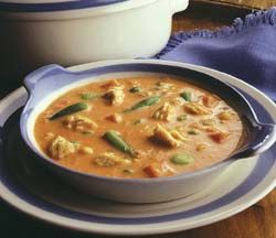 284cal. Alaskan Salmon Chowder with Chicken of the Sea's Skinless & Boneless Pink Salmon