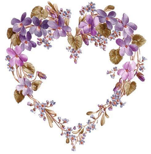 corazón floreado