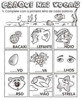 atividades alfabeto, vogais...