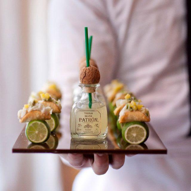 Patron Margaritas and Mini Fish Tacos