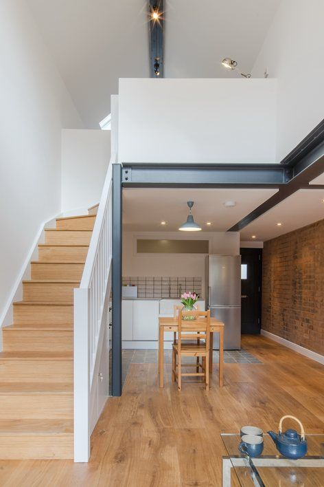 Intervention Architecture managed the complete refurbishment and extension of an existing #outbuilding #garage in #Birmingham, to create a writer's studio and coach house #kitchen
