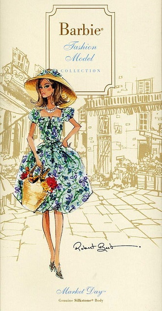 Barbie Illustration - Silkstone Market Day