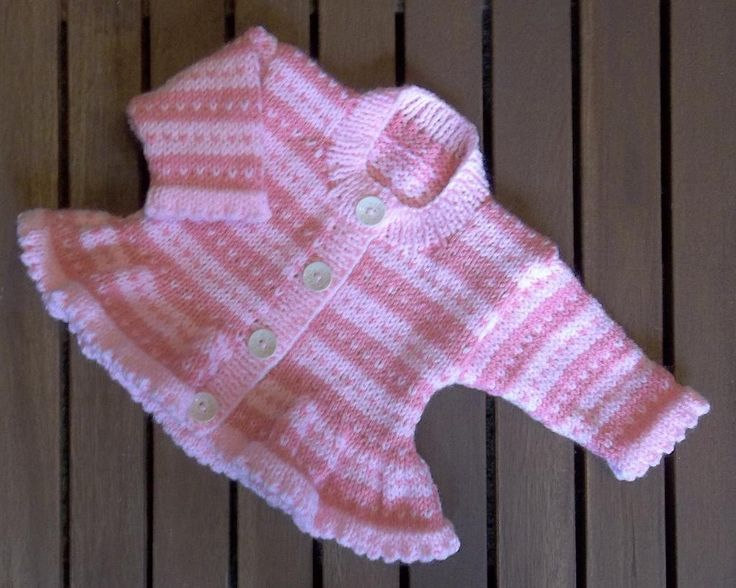 Looking for a knitting pattern for your next project? Look no further than Baby Pink Stripe Cardigan from Design Studio! - via @Craftsy