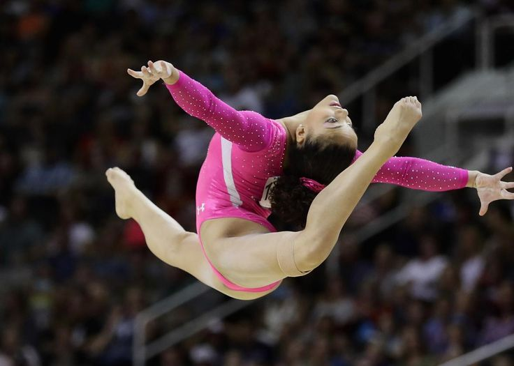 2016 Olympic Gymnastics Team | Laurie Hernandez competes in the floor exercise…