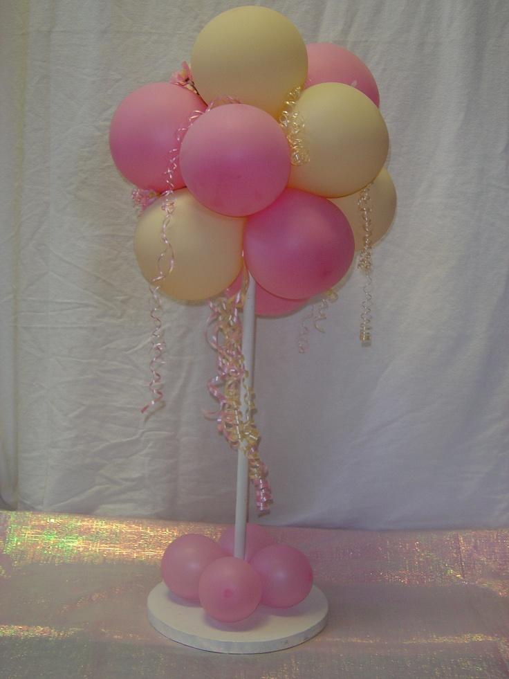 Balloon Tower Centerpiece : Ideas about balloon topiary on pinterest