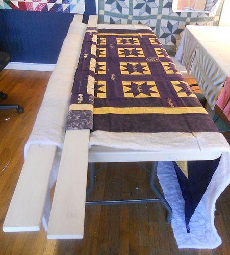 Basting Tutorial using 2x4 boards
