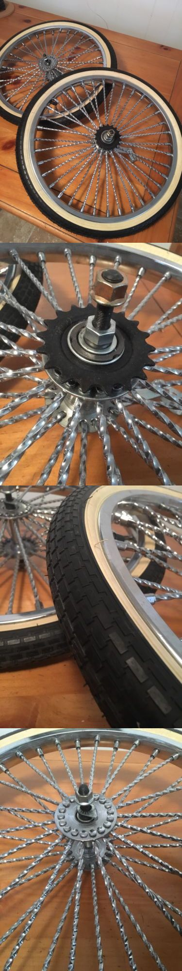 Other Bike Components and Parts 57267: Lowrider Twisted Bicycle Parts 20 Rims And Whitewall Tires Heavy Duty New -> BUY IT NOW ONLY: $200 on eBay!