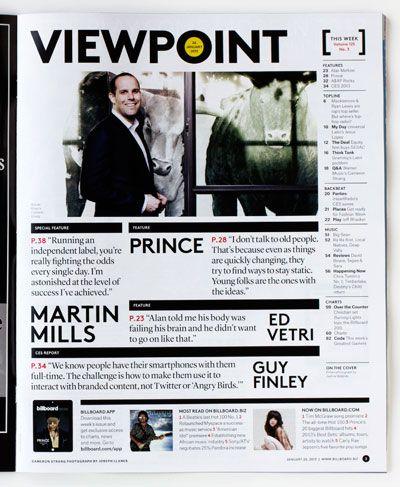 Pentagram // billboard table of contents