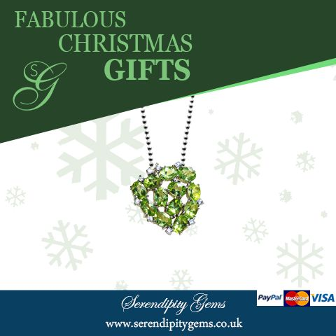 A sparkling gift idea, #FabulousChristmasGifts This lovely pendant in peridot and white sapphires £170 All details from our website www.serendipitygems.co.uk