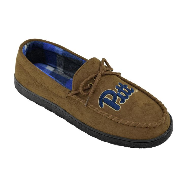 NCAA Men's University of Pittsburg Panthers Brown Moccasin Slipper