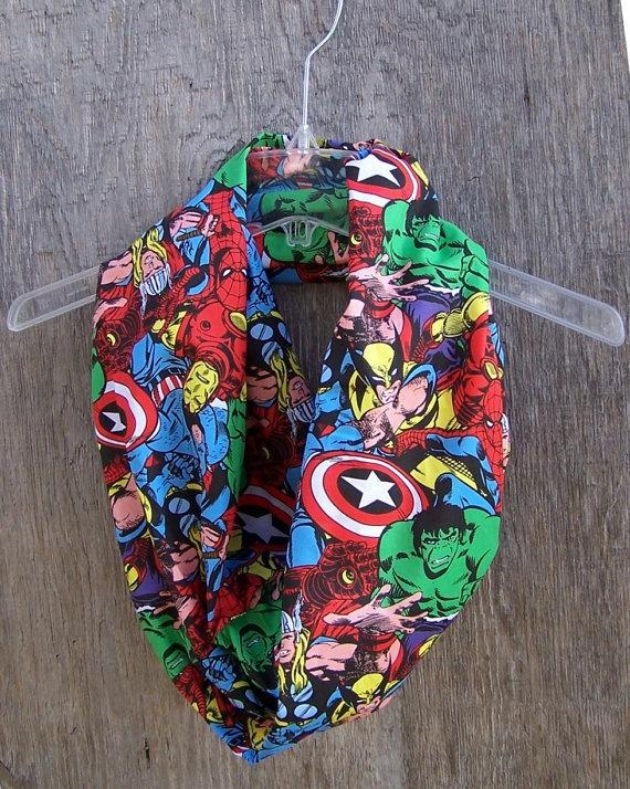 Marvel circle scarf infinity eternity loop cowl mobius Avengers unisex accessories superhero