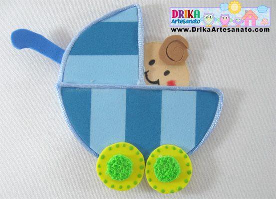 Lembrancinha básica em EVA modelo de carrinho: For, Baby, Molds, Ems, Em Eva, Crafts