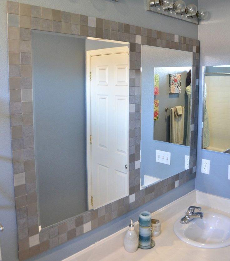 Best 25 tile mirror ideas on pinterest tile mirror - Stick on frames for bathroom mirrors ...