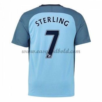 Fodboldtrøjer Premier League Manchester City 2016-17 Sterling 7 Hjemmetrøje