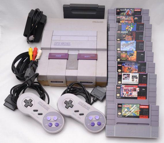 Vintage Super Nintendo Console Controllers by VintageCornerBazaar, $79.00