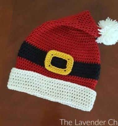 Crochet Santa belt hat (free crochet pattern) // Horgolt mikulás öv sapka (ingyenes horgolásminta) // Mindy - craft tutorial collection // #crafts #DIY #craftTutorial #tutorial #DIYClothesForKids