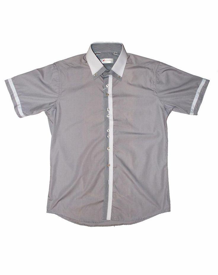Серая рубашка с коротким рукавом по супер выгодной цене 1500 руб руб, с бесплатной доставкой по Москве и России без предоплаты. В наличие размеры L, приезжайте к нам в магазин!