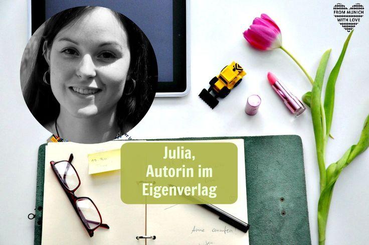 """Mama Start-Up: Julia A. Kris, Autorin im Eigenverlag.  Sie ist Autorin des Buchs """"Liebe Supermami, du kannst mich Mal!. Leben mit Kleinkind""""."""
