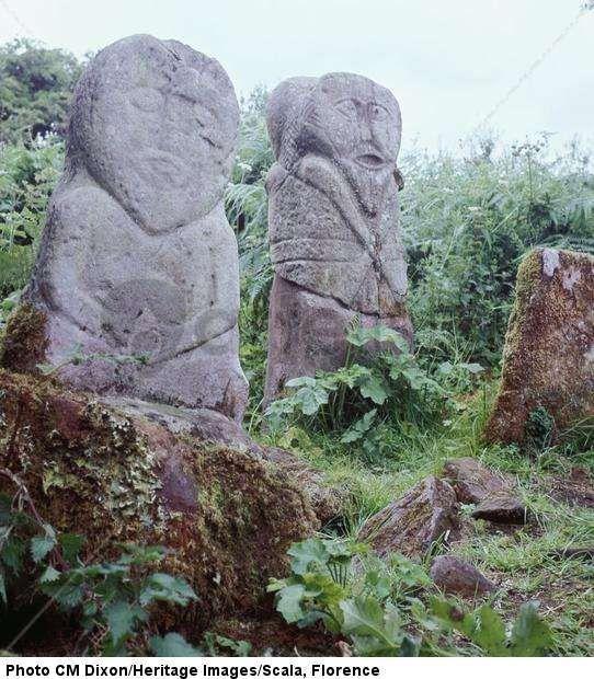 Pagan Celtic stone figures, c. 5th century BCE  - Cool Nature