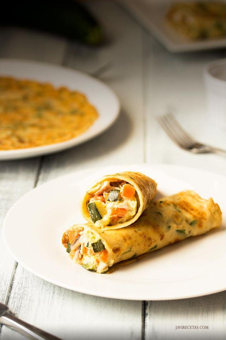 Ya tienes plan de comida para mañana con estos Crepes Salados de Verduras y Jamón. Prometo que está riquísimos!!!!  http://www.javirecetas.com/crepes-salados-receta-de-crepes-rellenos/