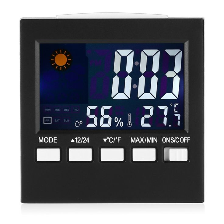 Digital LCD Calendar Timer Alarm Clock with Temperature Humidity Weather Display