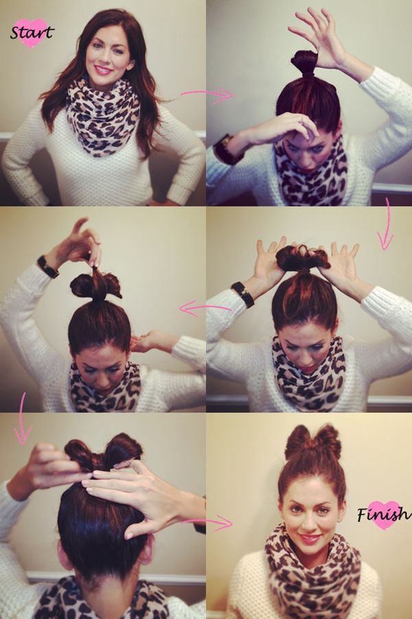 Jillian Harris shows how to rock a bow bun! Love this look for the holidays!