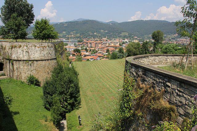 Bastions / Bastioni. Bergamo, Lombardy, Italy: Photo