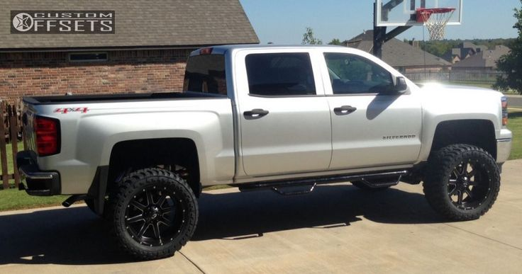 24 13 2014 silverado 1500 chevrolet suspension lift 6 fuel maverick black slightly aggressive