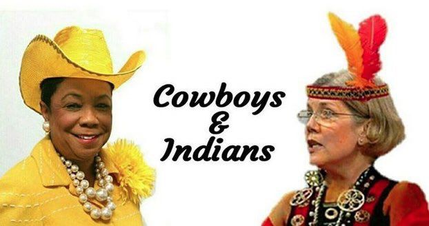 A wanna be rodeo clown and Shitting Bull.