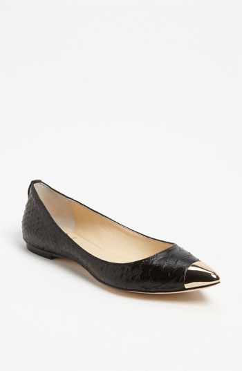 VC Signature 'Carrie' Flat available at #NordstromGold Toes, Practical Work Shoes, Carrie Flats, Practice Work, Cap Toes, Black Snakes, Toes Cap, Signature Carrie, Gold Point