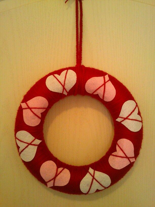 Valentín koszorú ajtódísz