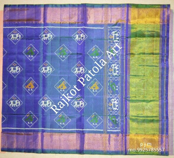 handwoven manufacure patola saree rajkot patola saree