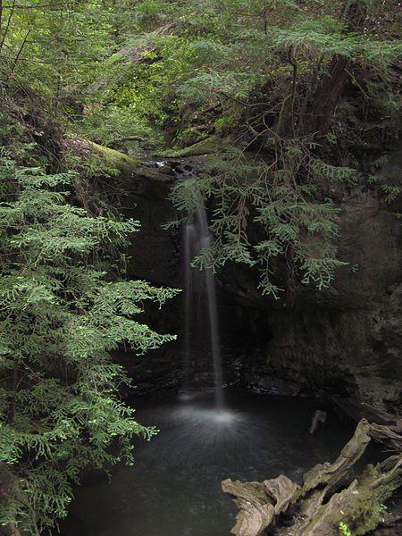 Sempervirens Falls, Big Basin Redwoods State Park, Santa Cruz, California