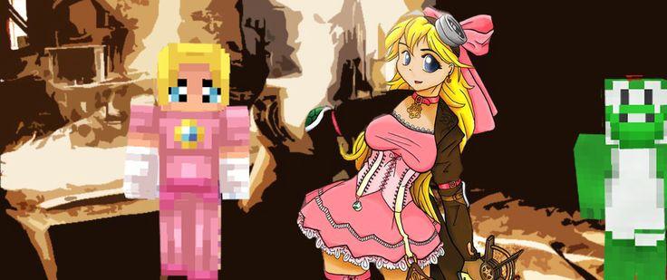 Princess Peach Anime & Minecraft skin!   Miss Minecraft ...