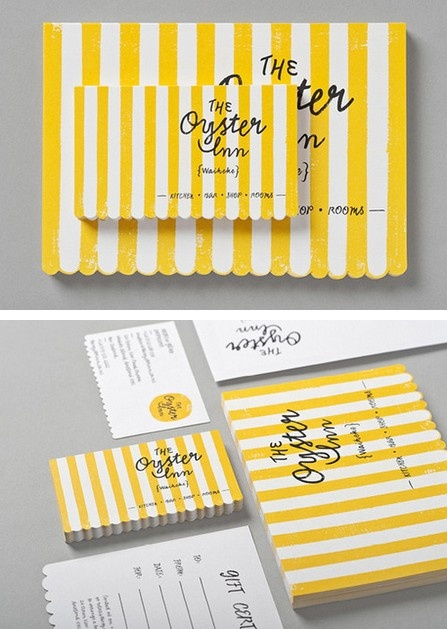 The Oyster Inn branding by Special Group.