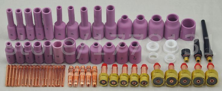 Tig Torch Welding Alumina Nozzle & Collet Body Complete TIG Consumables Kit Gas Lens Fit SR WP17 18 26 Excellent Quality ,67PK