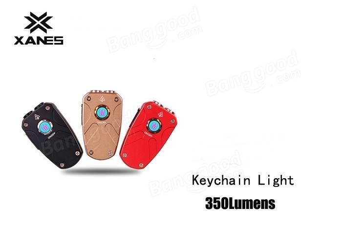 XANES KT XP-G3+UV 350LM 3Modes Rechargeable Mini LED Keychain Flashlight